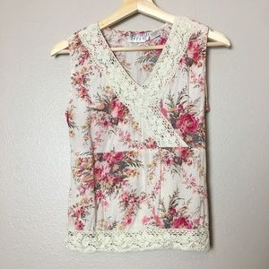 Funky People Floral Tank Top S Small